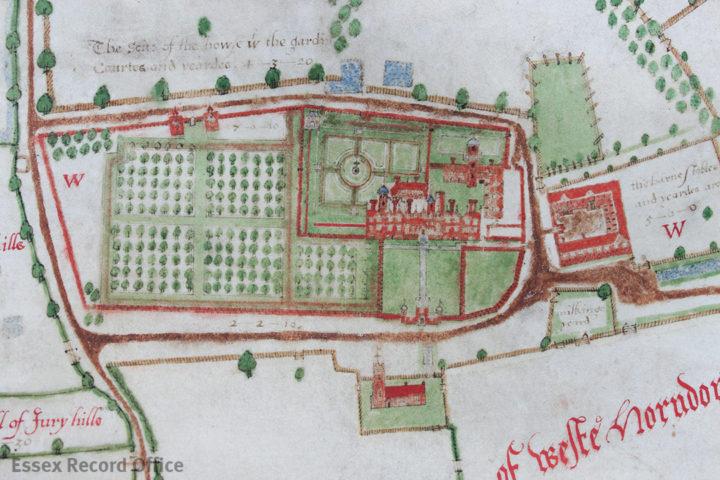 1598 Walker Map of Thorndon Hall (ERO)