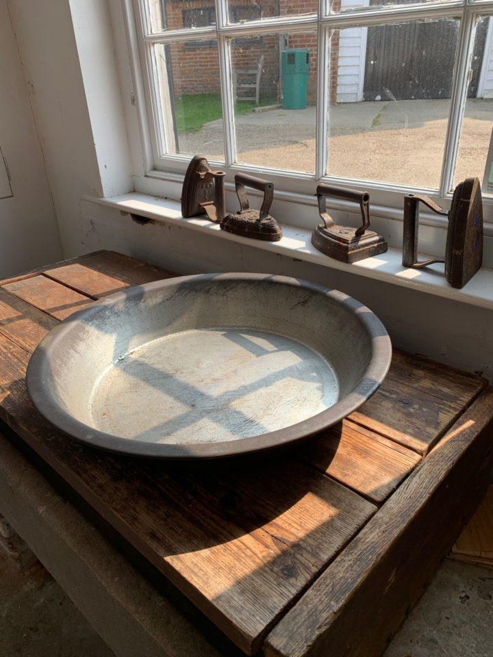 An old metal sink