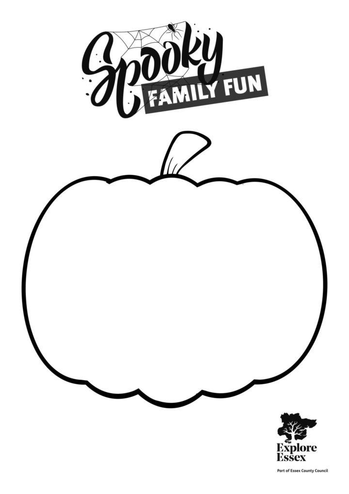 Spooky Fun Pumpkin Colouring Sheet