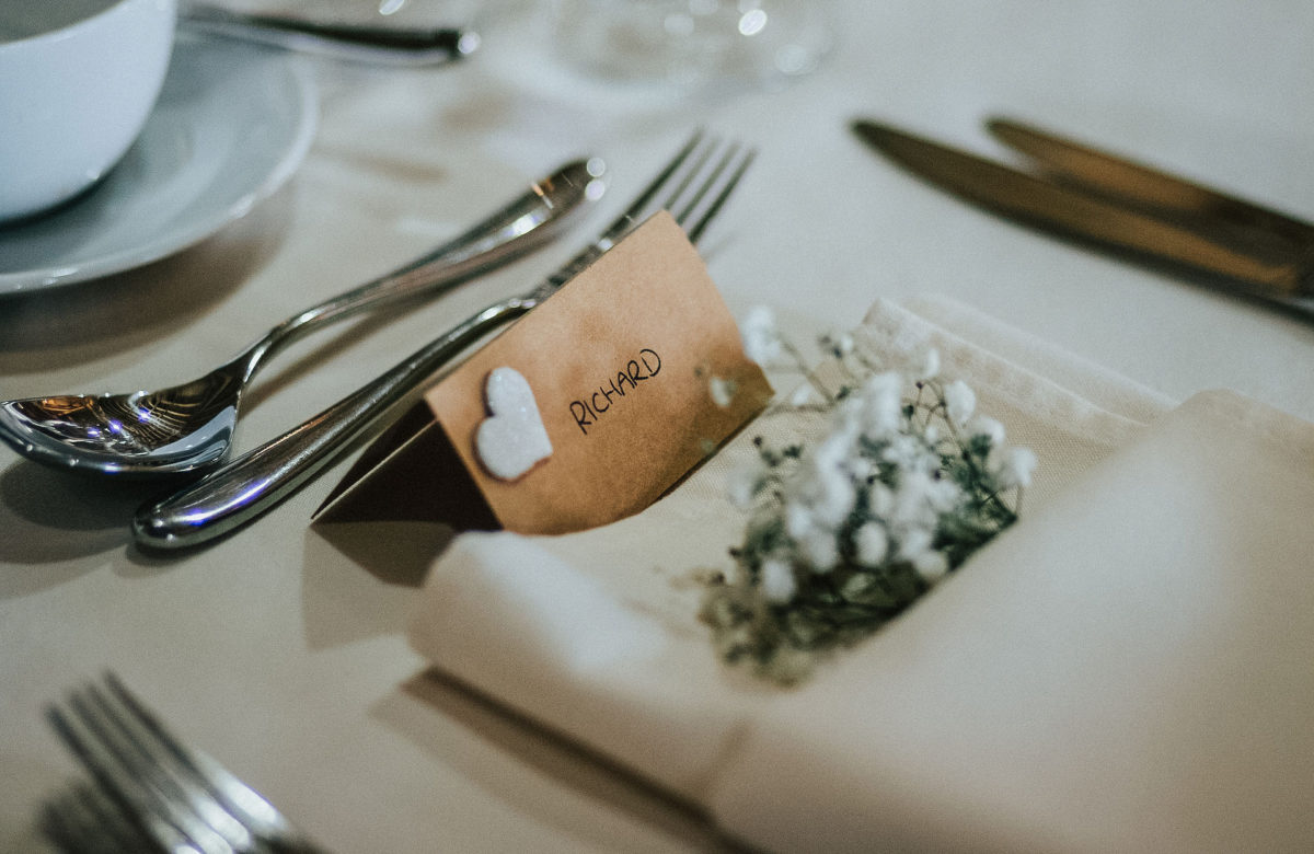 A wedding place setting