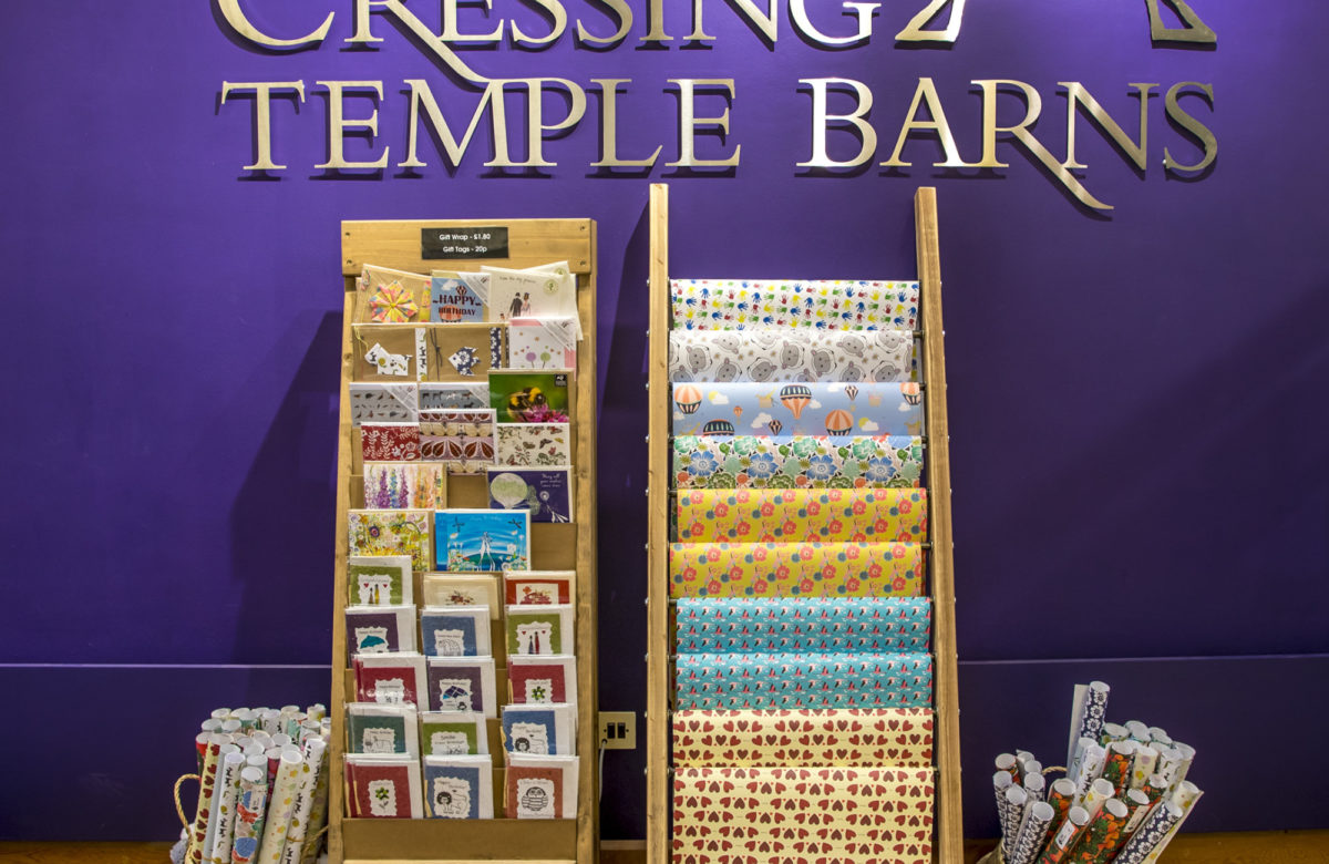 The gift shop at Cressing Temple Barns