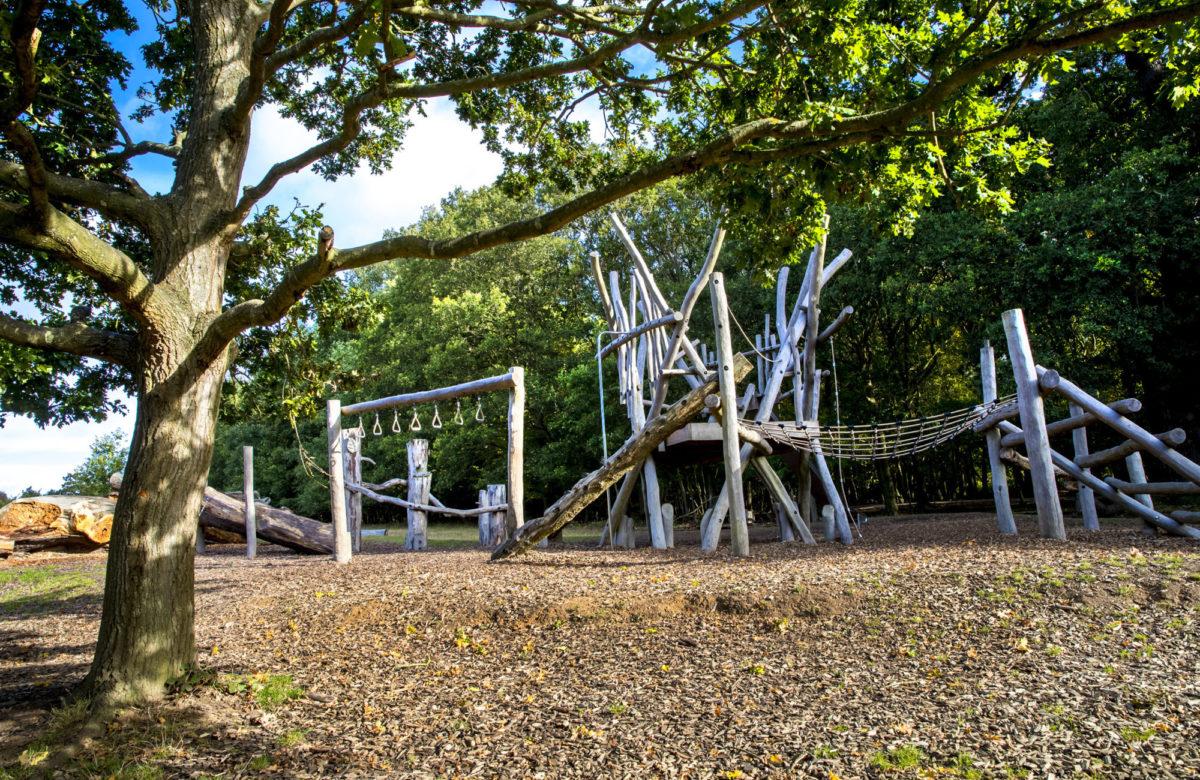 An outdoor adventure playground