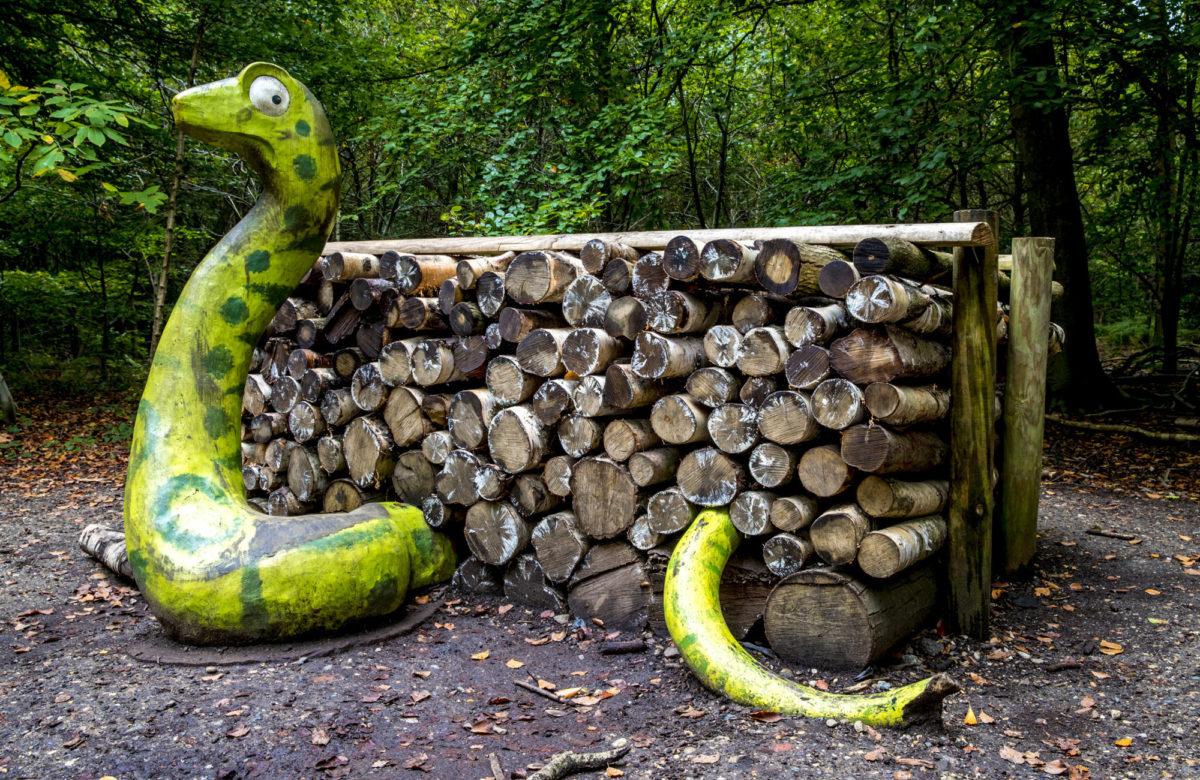 The Snake and log pile den from The Gruffalo