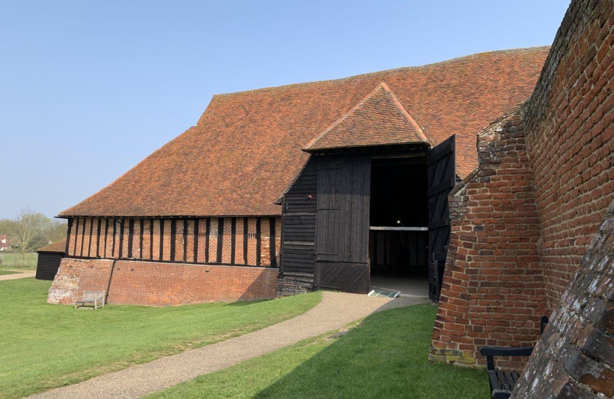 A wood and tile barn