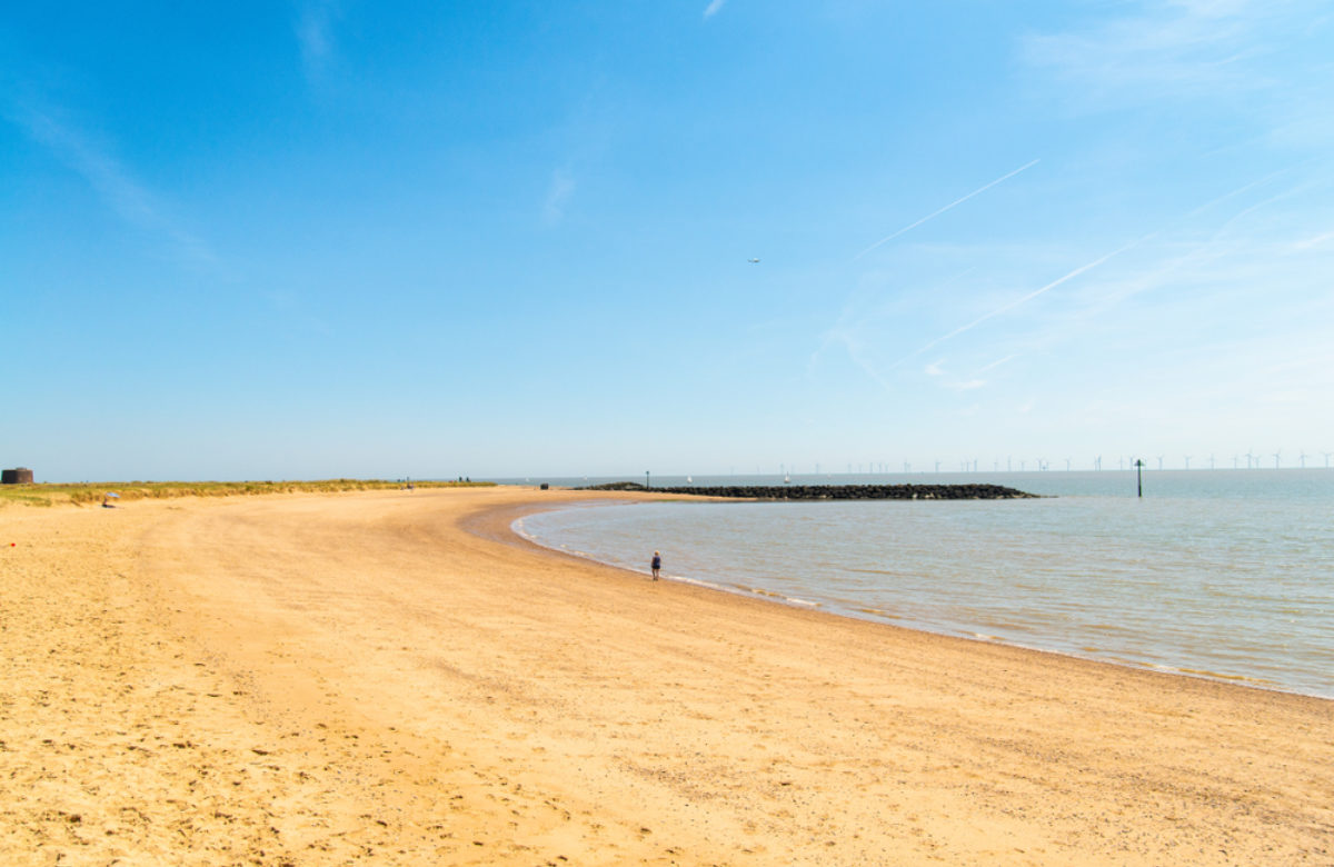 Jaywick Sands beach in summer