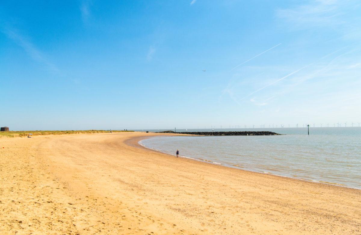 Jaywick Sands beach in summer