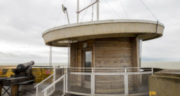 On the roof at Jaywick Martello Tower