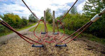 Apparatus at an adventure playground