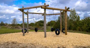 Apparatus at an adventure playground
