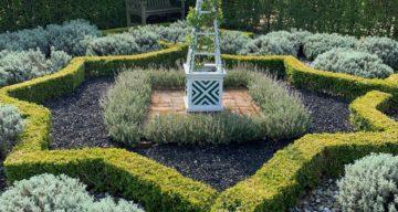 A manicured garden