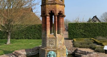 An ornate water feature
