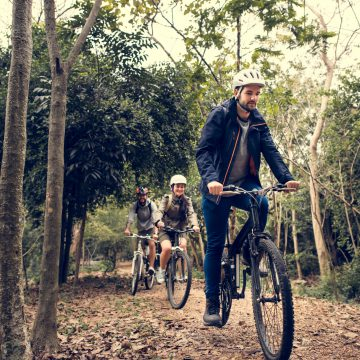 Cycling at Hadleigh