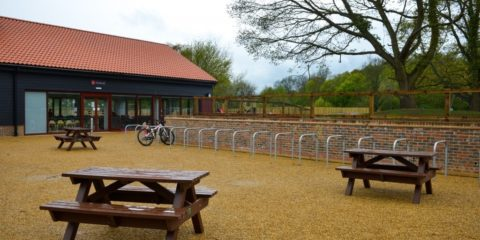 Picnic benches at Hadleigh